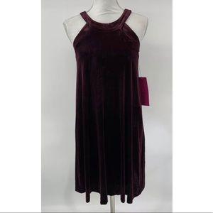 Betsey Johnson NWT Velvet dress tunic 2 purple